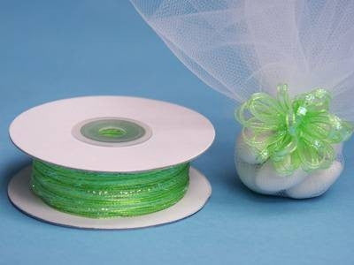 "1/8"" Pull Ribbon-Apple Green"