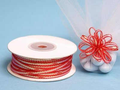 "1/8"" Pull Ribbon-Red"