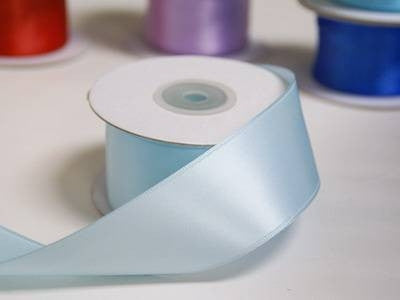 "1.5"" Light Blue Wired Satin Ribbon - 10 Yards"