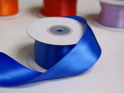 "1.5"" Royal Blue Wired Satin Ribbon - 10 Yards"