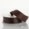 "7/8"" x 10 Yards Wired Satin Ribbon - Chocolate"