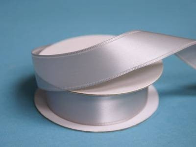 "7/8"" Wired Satin Ribbon - Silver"