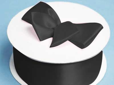 "2"" Satin Ribbon-Black"
