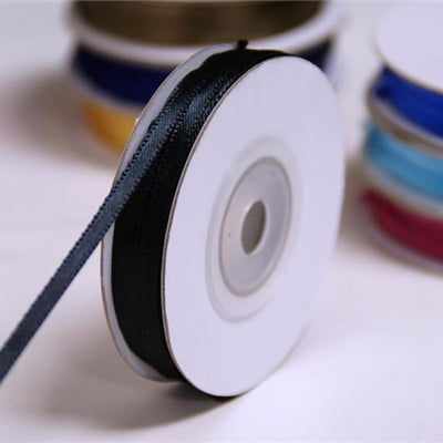 "100 Yards 1/16"" DIY Black Single Face Satin Ribbon Wedding Party Dress Favor Gift Craft"