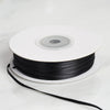 "1/16"" x 100 Yards Solid Satin Ribbon - Black"