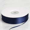 "1/16"" x 100 Yards Solid Satin Ribbon - Navy Blue"