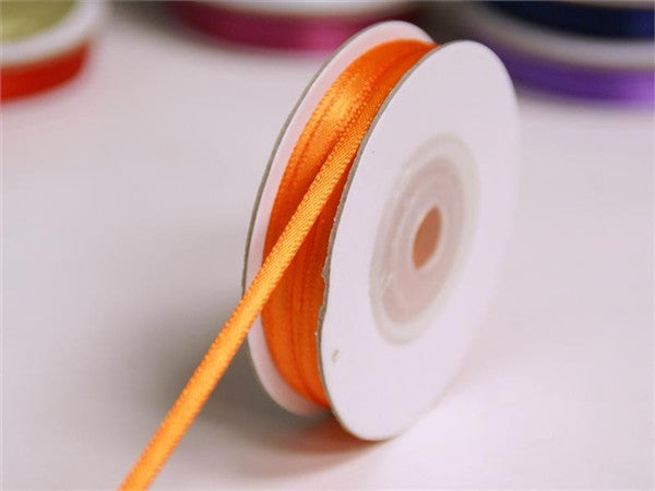 "100 Yards 1/16"" DIY Orange Single Face Satin Ribbon Wedding Party Dress Favor Gift Craft"