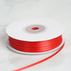 "1/16"" x 100 Yards Solid Satin Ribbon - Red"