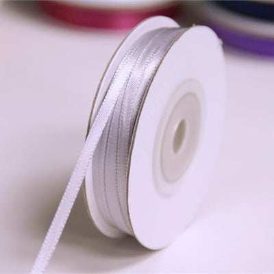 "100 Yards 1/16"" DIY Silver Single Face Satin Ribbon Wedding Party Dress Favor Gift Craft"