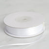 "1/16"" x 100 Yards Solid Satin Ribbon - White"