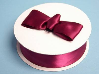 "50Yards x 1.5"" Burgundy Satin Ribbon Wedding Multi Craft DIY Hair Bow Party Fabric"
