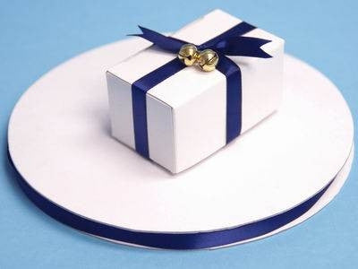 "3/8"" Satin Ribbon-Navy Blue"