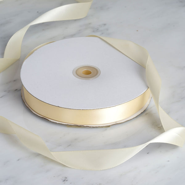 "7/8"" x 100 Yards Solid Satin Ribbon - Ivory"