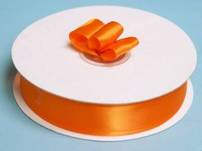 "7/8"" Satin Ribbon-Coral Orange"
