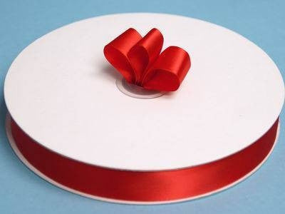 "7/8"" Satin Ribbon-Red"