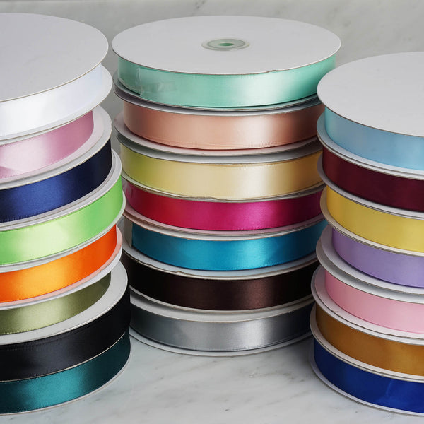 "7/8"" x 100 Yards Solid Satin Ribbon - Silver"