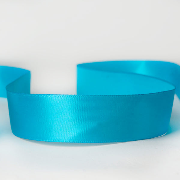 "7/8"" x 100 Yards Solid Satin Ribbon - Turquoise"