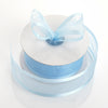 "1.5"" x 25 Yards Organza Ribbon With Satin Edge - Light Blue"
