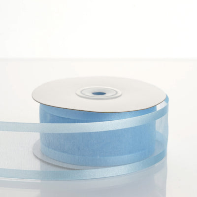 "1.5"" Baby Blue Satin Edge Ribbon - 25 Yards"