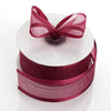 "1.5"" Burgundy Satin Edge Ribbon - 25 Yards"