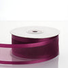"1.5"" Eggplant Satin Edge Ribbon - 25 Yards"