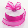 "1.5"" x 25 Yards Organza Ribbon With Satin Edge - Fuchsia"