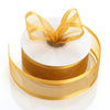 "1.5"" x 25 Yards Organza Ribbon With Satin Edge - Gold"
