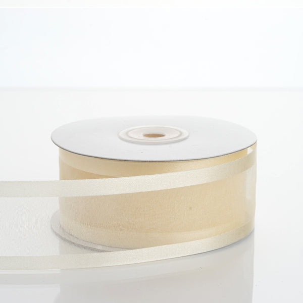 "1.5"" Ivory Satin Edge Ribbon - 25 Yards"