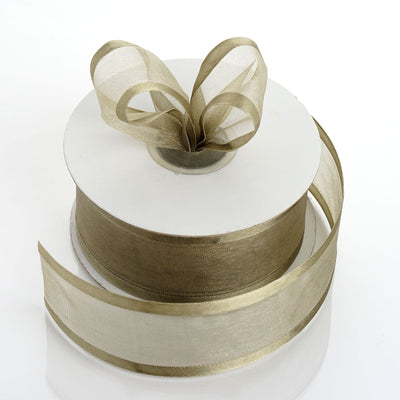 "1.5"" Willow Green Satin Edge Ribbon - 25 Yards"