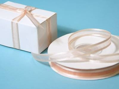 "3/8"" Satin Edge Organza-Peach"