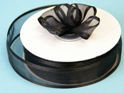 "7/8"" Satin Edge Organza-Black"