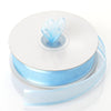 "7/8"" x 25 Yards Organza Ribbon With Satin Edge - Light Blue"