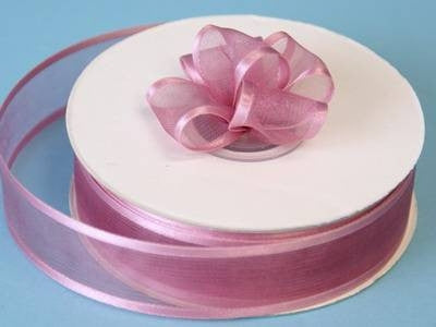 "7/8"" Satin Edge Organza - Rose Quartz"