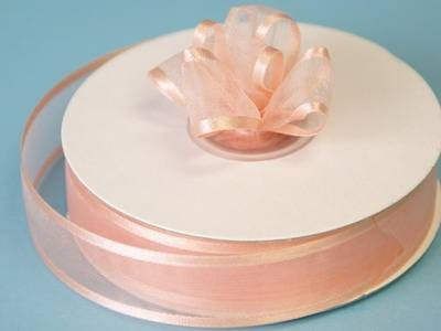 "7/8"" Satin Edge Organza-Peach"