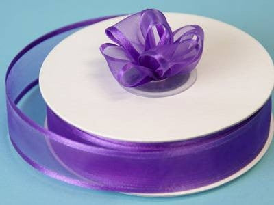 "7/8"" Satin Edge Organza-Purple"