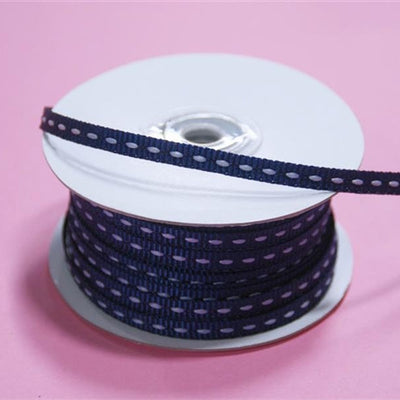 "1/4"" x 25 Yards Stitched Ribbon - Navy"