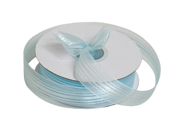 "7/8"" Striped Ribbon-Blue"