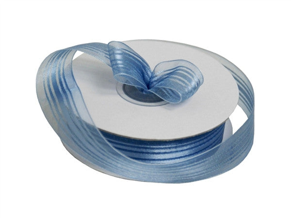 "7/8"" Striped Ribbon-Serenity"