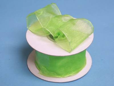 "10 Yards 1.5"" DIY Apple Green Wired Organza Ribbon For Craft Dress Wedding"