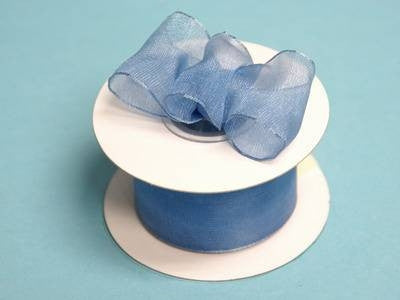 "10 Yards 1.5"" DIY Periwinkle Wired Organza Ribbon For Craft Dress Wedding"
