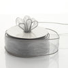 "1.5"" x 10 Yards Organza Ribbon With Wired Edge - Silver"