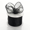 "2.5"" x 10 Yards Organza Ribbon With Wired Edge - Black"