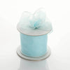 "2.5"" x 10 Yards Organza Ribbon With Wired Edge - Light Blue"