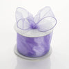 "2.5"" x 10 Yards Organza Ribbon With Wired Edge - Lavender"