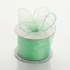 "2.5"" x 10 Yards Organza Ribbon With Wired Edge - Mint"