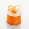"2.5"" x 10 Yards Organza Ribbon With Wired Edge - Orange"
