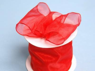 Red Wired Ribbon | 10 Yards 2 5 Diy Red Wired Organza Ribbon For Craft Dress Wedding