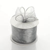 "2.5"" x 10 Yards Organza Ribbon With Wired Edge - Silver"