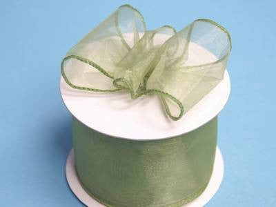"2 1/2"" Wired Organza Ribbon - Moss/Willow"
