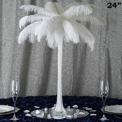 "24"" White Eiffel Tower Vases-12pc"